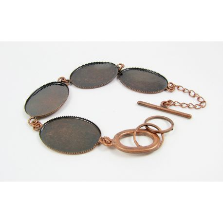 Brass workpiece for bracelet, copper color, size app about 18 cm