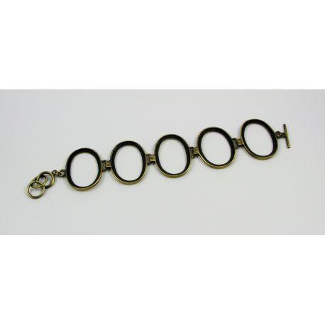 Brass workpiece for bracelet 5 pcs, bronze color, size app about 18 cm