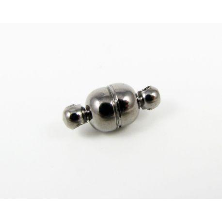 Magnetinis vėrinio užsegimas, juodos spalvos, 11x5 mm