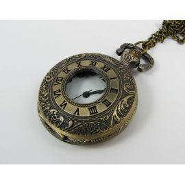 Dekoratyvinis kišeninis laikrodis su elementu