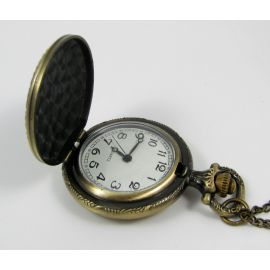 "Pocket watch ""Rose"", bronze with chain 49x37 mm"