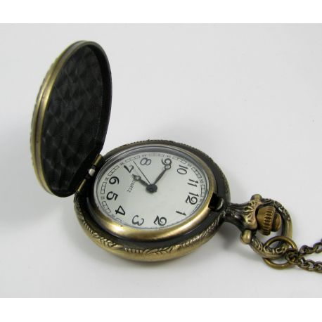"""Pocket watch """"Rose"""", bronze with chain 49x37 mm"""