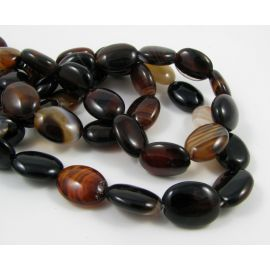 Agate beads 16x12 mm