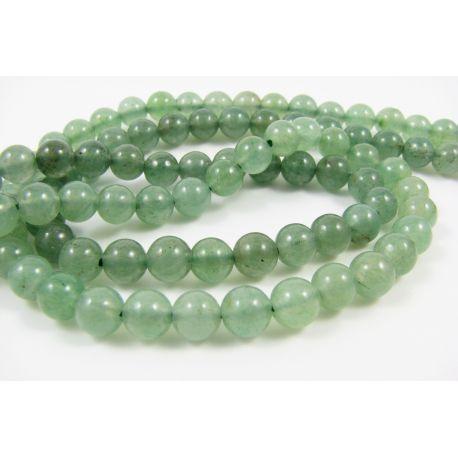 Avantiurino karoliukai šviesiai žalios spalvos, apvalios formos 6 mm