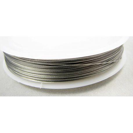 Juvelyrinis troselis tamsios sidabro spalvos, 0.35 mm , 50 metrų