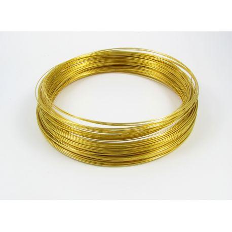 Viela su atmintimi vėriniui, aukso spalvos, 115 mm, kaina už 10 žiedų