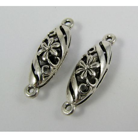 Jewellery distributor,aged silver, oval, 30x9 mm