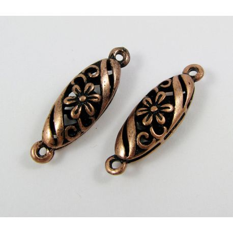 Jewellery distributor,aged copper, oval, 30x9 mm