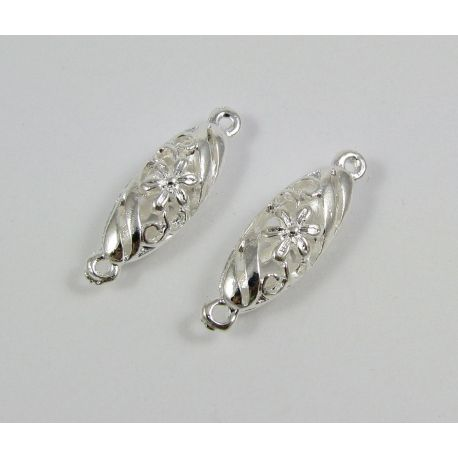Jewellery distributor, silver, oval, 30x9 mm