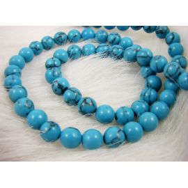 Synthetic turquoise bead thread 6 mm