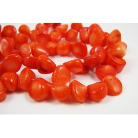 Natural coral bead thread 12x8 mm