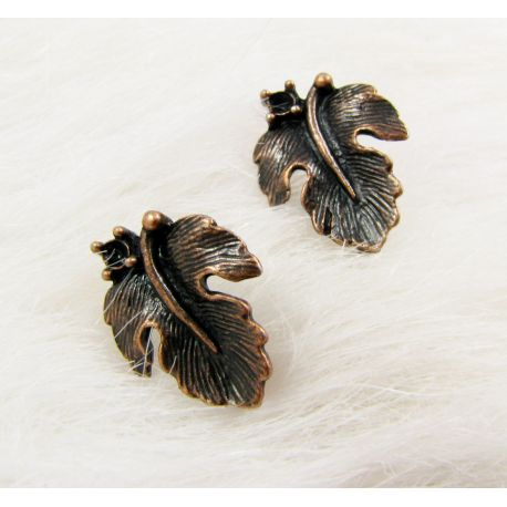 Kabliukai auskarams, sendintos vario spalvos, dydis apie 16x13 mm 1 pora