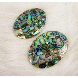 Abalone shell cabochon 40x30 mm