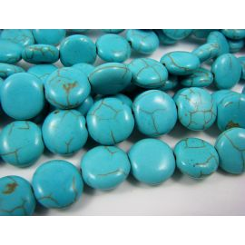 Synthetic turquoise beads 12 mm