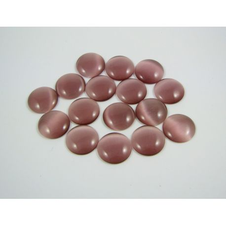 Cat's eye cabochon, lilac, round shape, 20 mm