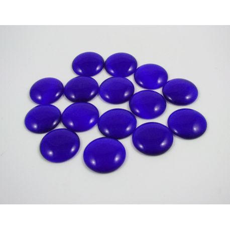 Cat's eye cabochon, blue, round shape, 20 mm