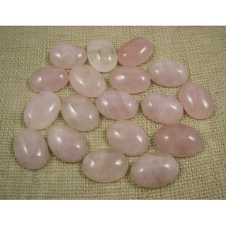 Pink, oval, 18x13 mm