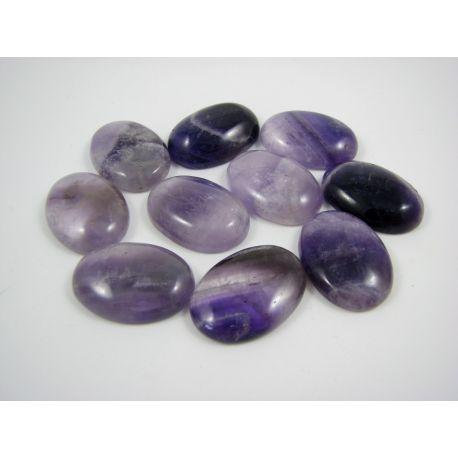 Amethist cabochon, purple, oval, 25x18 mm