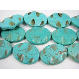 Synthetic turquoise beads 40x30 mm