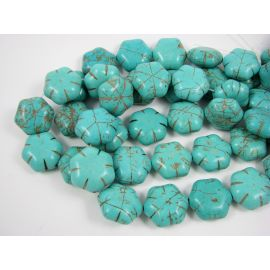 Synthetic turquoise flower 19 mm