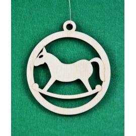 """Kalėdinis medinis žaisliukas - """"Arkliukas"""". Pagaminta iš 3 mm fanieros."""