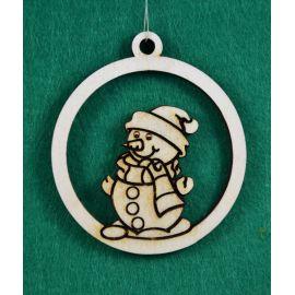 """Kalėdinis medinis žaisliukas - """"Besmegenis"""". Pagaminta iš 3 mm fanieros."""
