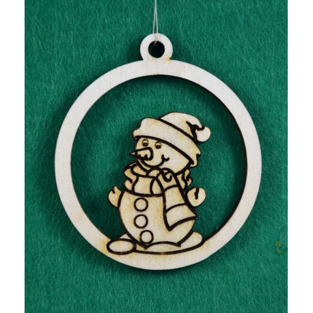 """Christmas wooden toy - """"Brainless"""". Made of 3 mm fan."""