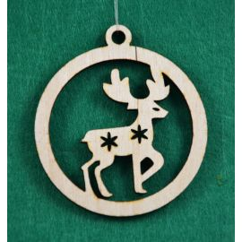 """Christmas wooden toy - """"Deer"""". Made of 3 mm fan."""