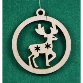 """Kalėdinis medinis žaisliukas - """"Elniukas"""". Pagaminta iš 3 mm fanieros."""