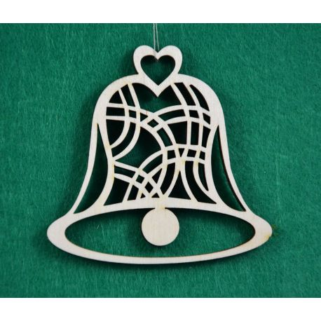 """Christmas wooden toy - """"Bell"""". Made of 3 mm fan."""