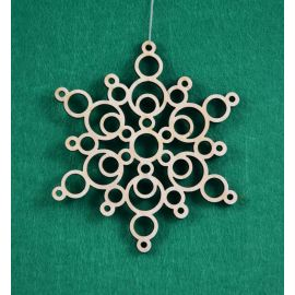 "Christmas wooden toy - ""Snowflake1"". Made of 3 mm fan."