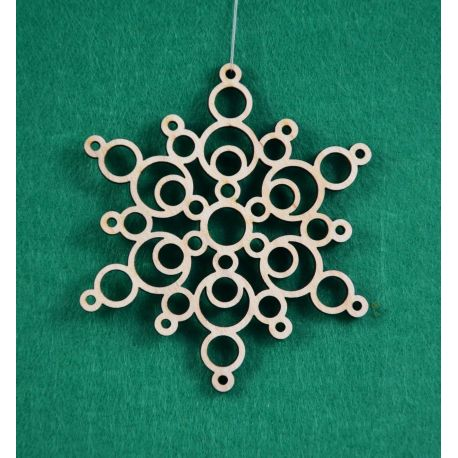 """Christmas wooden toy - """"Snowflake1"""". Made of 3 mm fan."""