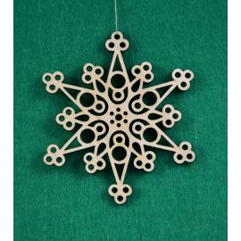 """Christmas wooden toy - """"Snowflake"""". Made of 3 mm fan."""