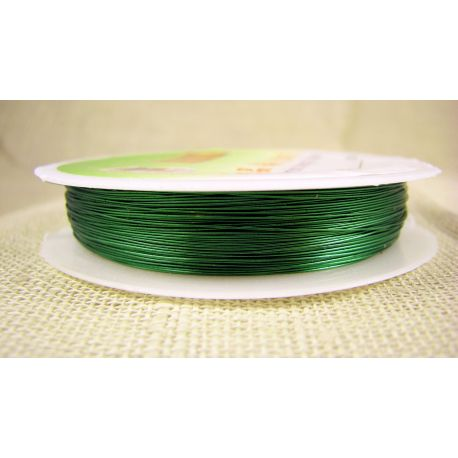 Brass wire, green, thickness appre about 0.30 mm, apprelic 28 meters