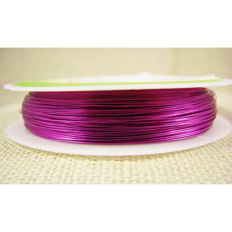 Brass wire, bright pink, thickness about 0.30 mm, about 28 meters