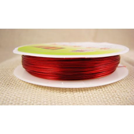 Brass wire, red, thickness appreson 0.30 mm, appreson 28 meters