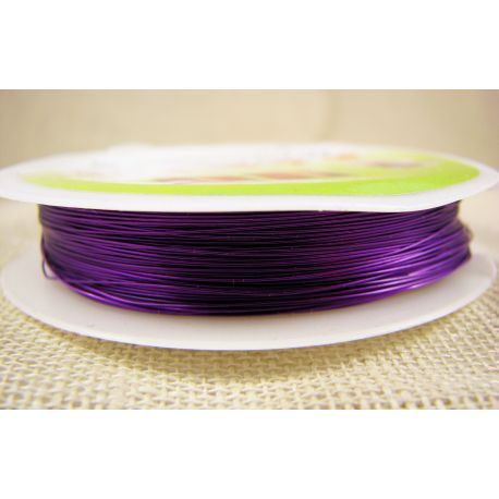 Brass wire, purple, thickness appreson 0.30 mm, appreson 28 meters