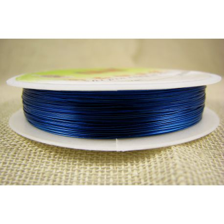 Brass wire, blue, thickness appre about 0.30 mm, apprelic 28 meters