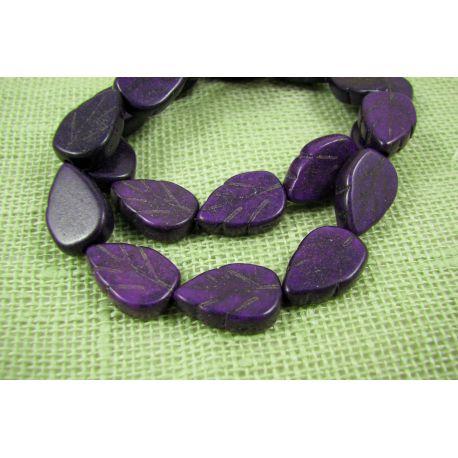 Sintetinio turkio lapas, violetinės spalvos, dydis 14x9 mm