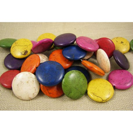 Sintetinio turkio gija, įvairių spalvų, monetos fornos, dydis 25 mm