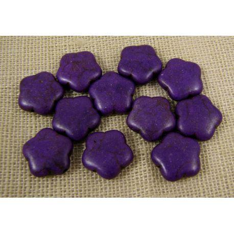 Sintetinio turkio gėlytė, violetinės spalvos, dydis 15 mm