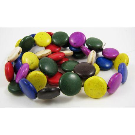 Sintetinio turkio gija, įvairių spalvų, monetos fornos, dydis 16 mm