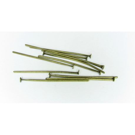 Pins for the manufacture of jewelry bronze flat head 30x0,75 mm