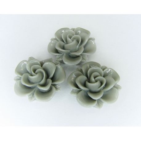 """Kama """"Flower"""" for the manufacture of jewelry in gray 19x9 mm"""