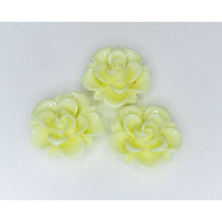 """Kama """"Flower"""" for the manufacture of jewelry yellow 19x9 mm"""