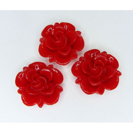 """Kama """"Flower"""" for the manufacture of jewelry red 19x9 mm"""