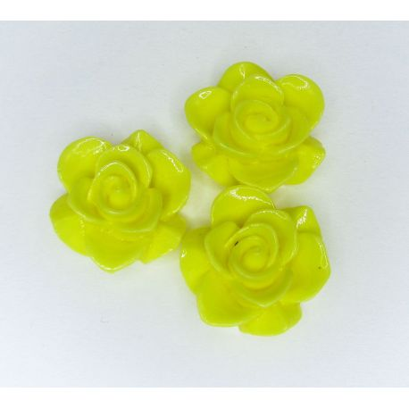 """Kama """"Flower"""" for the manufacture of jewelry bright yellow 19x9 mm"""