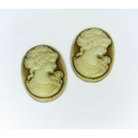 "Kama ""Portrait of the Lady"" 25x18 mm, 4 pcs."