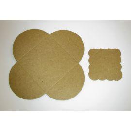 Card for earrings + envelope 50x50 mm, 1 pc.