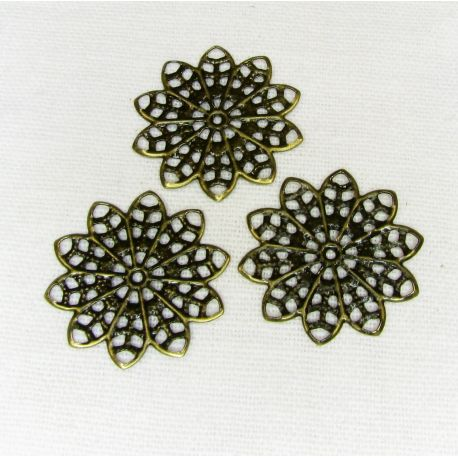 Openwork plate for the manufacture of jewelry, bronze sp., 20 mm,20 pcs.